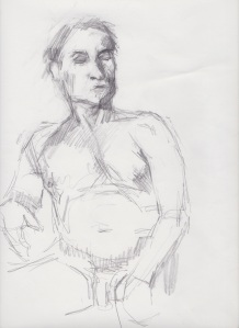 Man, nude sketch 1