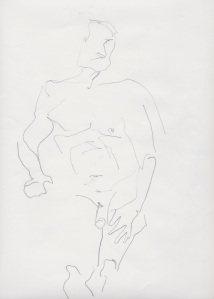 Man, nude sketch 2