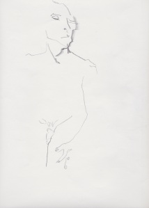 Man, nude sketch 3