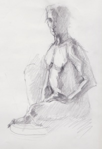 Man, nude sketch 5