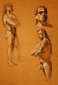 naked man study 1