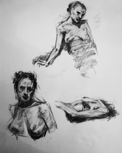 woman nude study sketches 1