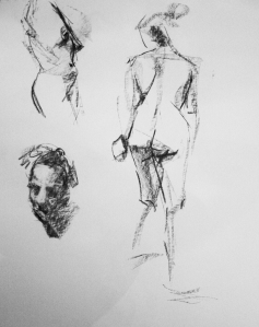 woman nude study sketches 2