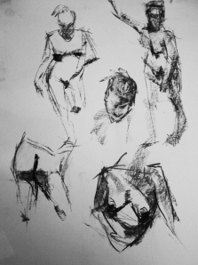 woman nude study sketches 3