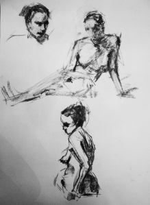 woman nude study sketches 4