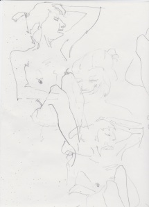 Woman reclining sketchwork