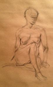Woman sitting study