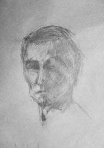 man study face