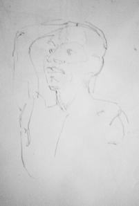 man tracing