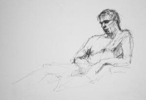 naked man study 3