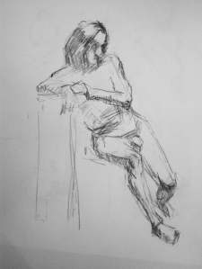 man seated sketch study