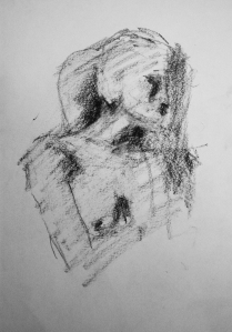 woman pencil study 5