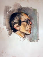 bespectacled man profile 1