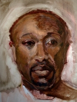 black man face study oils