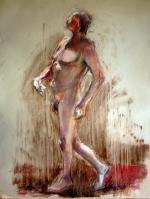 nude man dancing pastels
