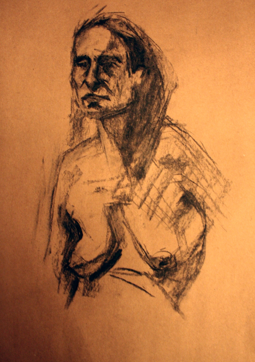 woman nude sketch 5