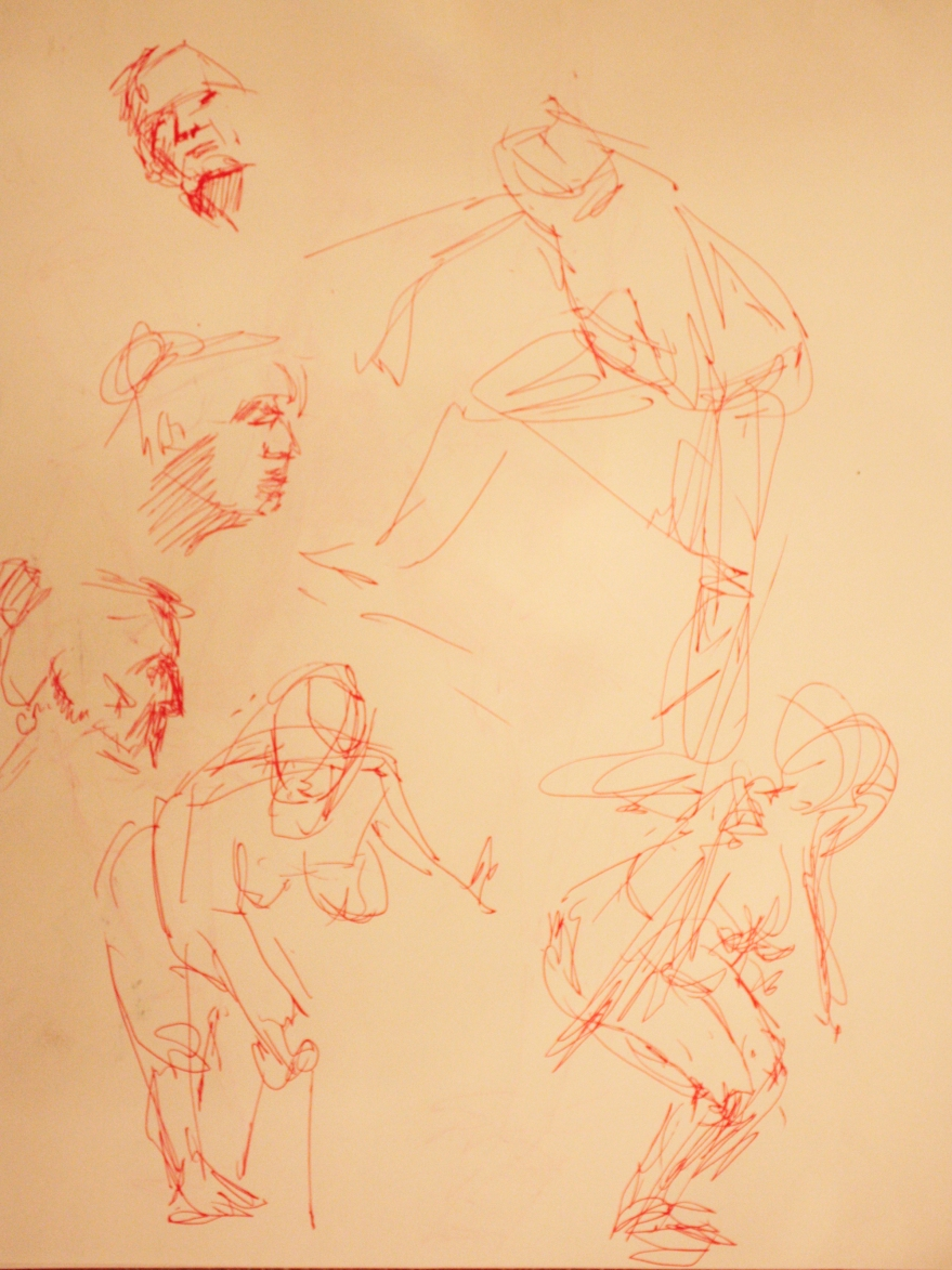 woman pen sketches 3