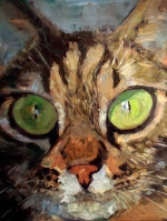 cat portrait oils preview