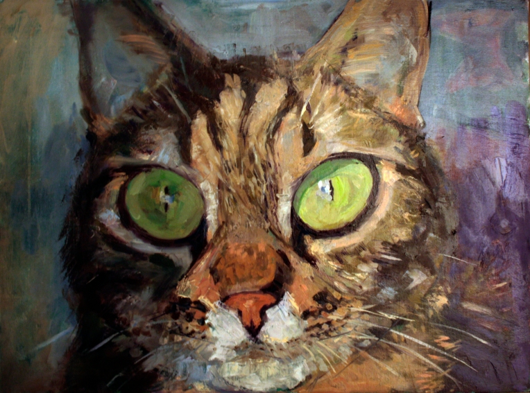 cat portrait oils