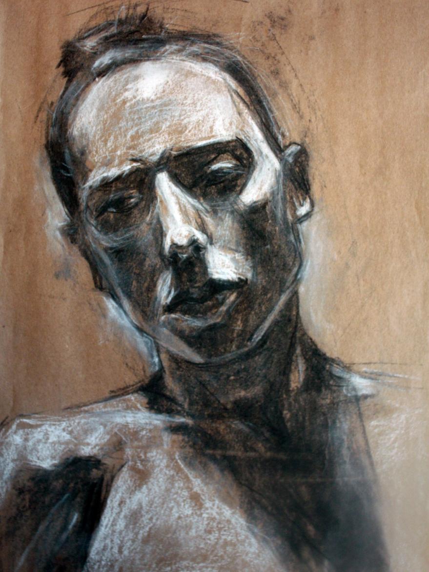 Woman facing forward charcoal