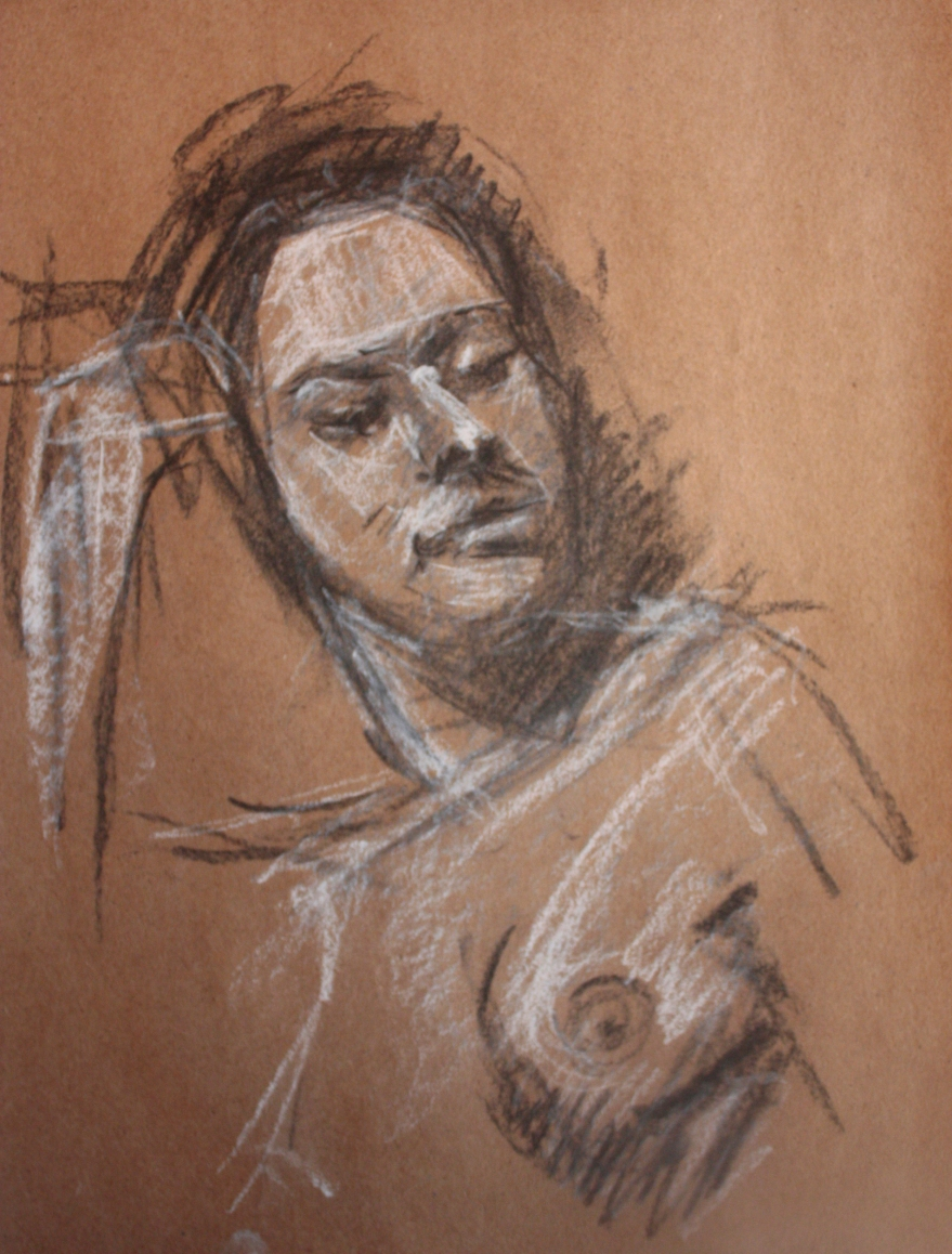 woman nude sketch 2