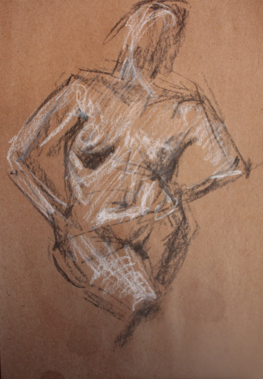 woman nude sketch 3