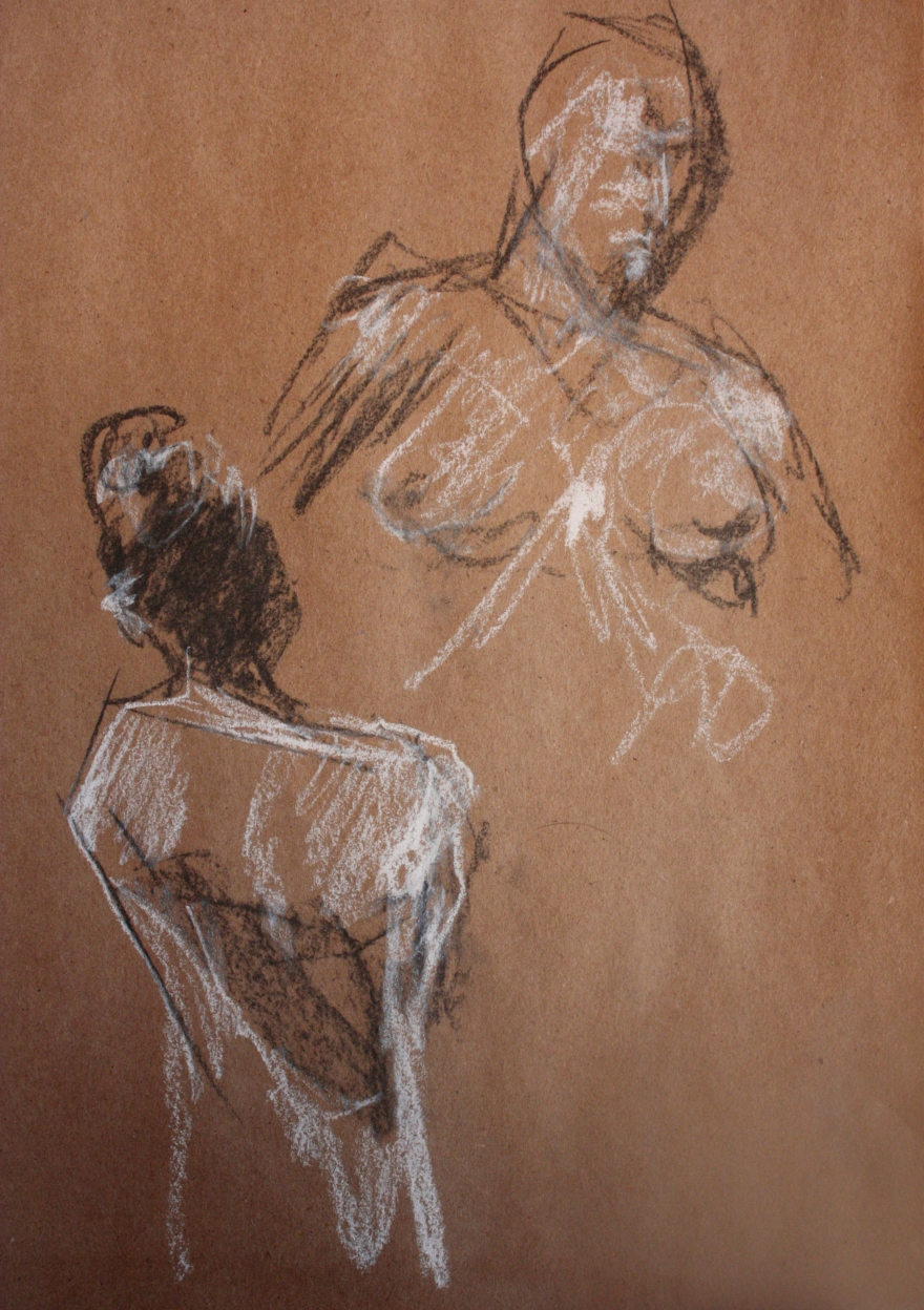woman nude sketch 4