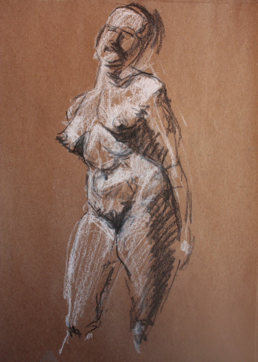 woman nude sketch 6