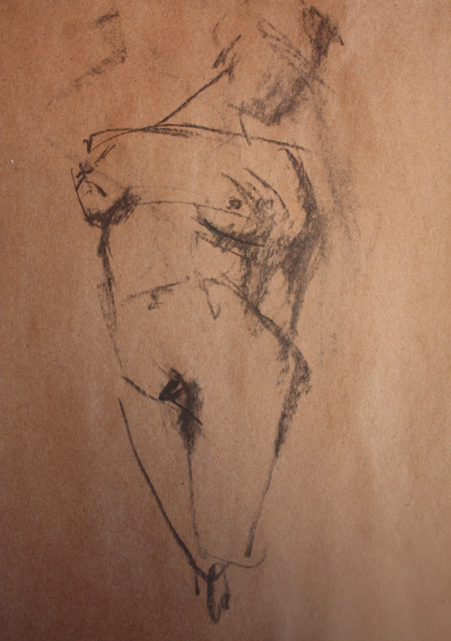woman nude sketch 7