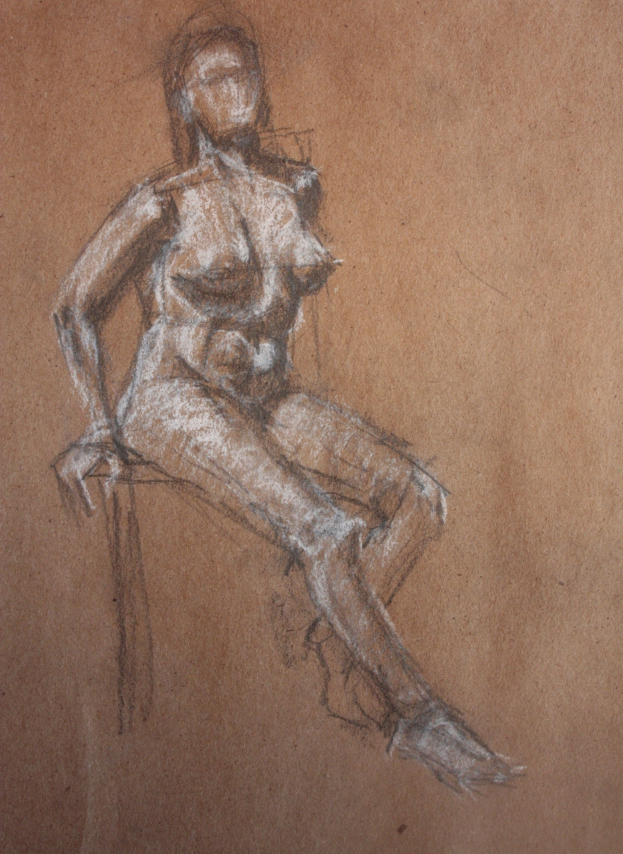 woman nude sketch